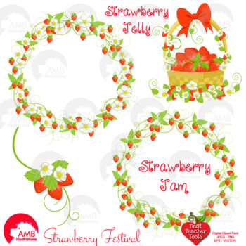 Strawberry Clipart, Strawberry Red clipart AMB-524