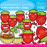 Strawberry Cuties Clipart Set
