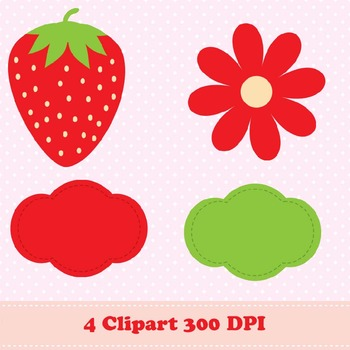 Strawberry Digital Paper & Clipart