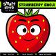 Strawberry Emoji Clip Art