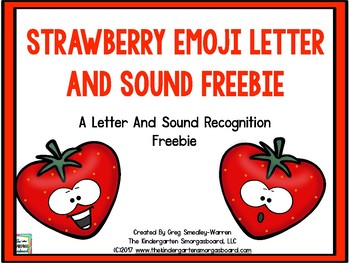 Strawberry Emoji Letters And Sounds FREEBIE!