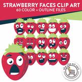 Strawberry Face Clip Art