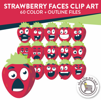 Strawberry Face Clip Art