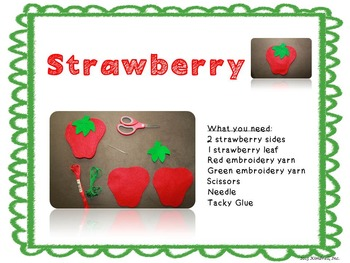 Strawberry Felt Mini Lesson FREEBIE