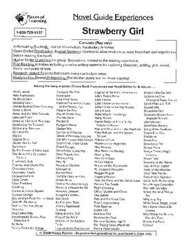 Strawberry Girl Literature Guide