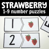 Strawberry Number Cards for Math Centers or Summer Activities