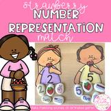 Strawberry Number Representation Match 0-20 | Stones Printables