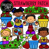 Strawberry Patch Clipart {Creative Clips Clipart}