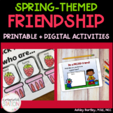Strawberry Patch Friendship Mini-Lesson and 4 Activities for School Counseling