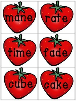 Strawberry Picking - A CVC & CVCe Read and Write the Room
