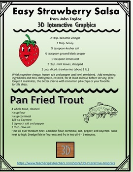 Strawberry Salsa and Pan Fried Trout - FREE RECIPE