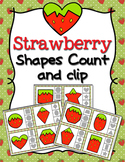 Strawberry Shapes Clip Cards