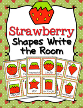 Strawberry Shapes Write the Room