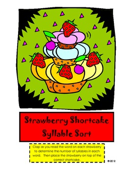Strawberry Shortcake Syllable Sort