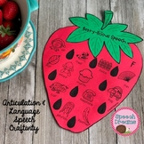 Strawberry Speech Therapy Craft {articulation language craftivity}