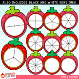 Strawberry Spinners Clip Art