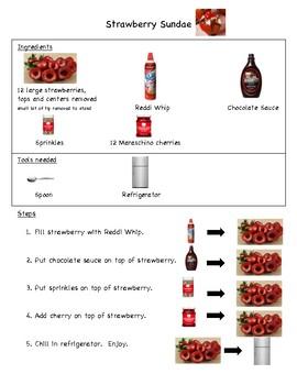 Strawberry Sundae visual recipe