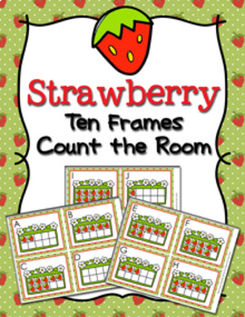 Strawberry Ten Frames Count the Room
