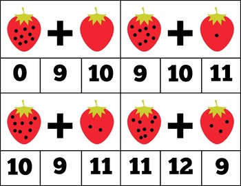 Strawberry-Themed Addition and Subtraction Facts Bundle