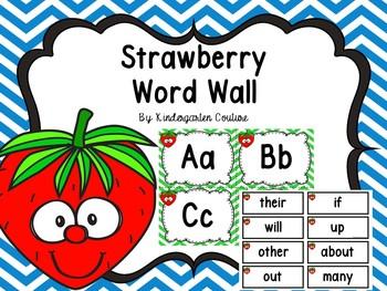 Strawberry Word Wall Editable