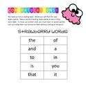 Strawberry Words Take Home List (1st 10 Fry's Words)