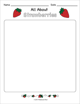 Strawberry Writing Paper