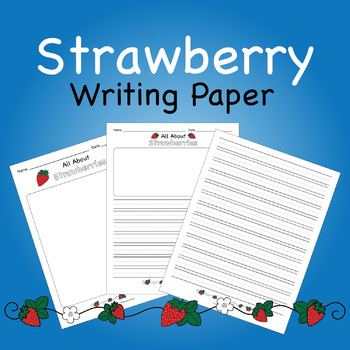 Strawberry Writing Paper
