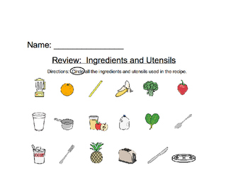Strawberry and Banana Smoothie Ingredients and Utensil Review