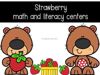 Strawberry math and literacy center