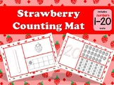 Strawberry numbers 1-20 Play dough counting mat