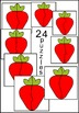 Strawberry puzzle cards