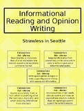 Strawless in Seattle  Informational Reading and Opinion Writing