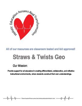 Straws & Twists Geo Building