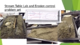Stream Table Lab and Errosion control problem set