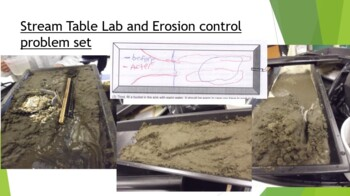 Stream Table Lab and Errosion control problem set