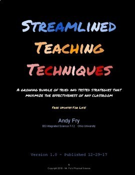 Streamlined Teaching Techniques - Must-Do List with Info!