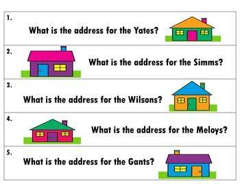 Street Addresses: A social studies unit for First Graders