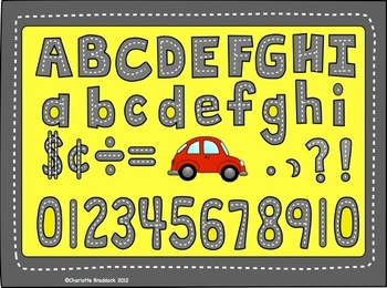 Street Alphabet Clip Art: Letters, Numbers, Punctuation and Symbols