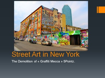 Street Art in New York - negotiation activity