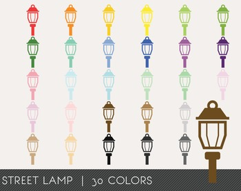 Street Lamp Digital Clipart, Street Lamp Graphics, Street Lamp PNG