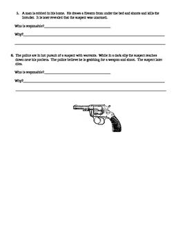 Street Law:  2nd Amendment Crimes Involving Guns Discussion Activity