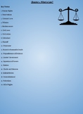 Street Law: Chapter 1- What is Law? Worksheet
