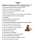 Street Law:  Introduction Quiz/ Discussion Activity