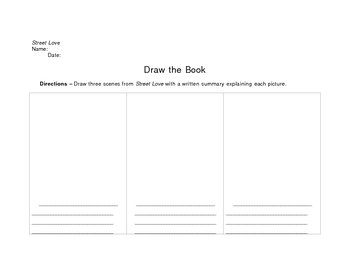 Street Love Draw the Book Activity