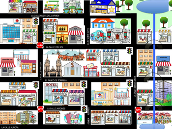 street map for giving directions by spanishdiva tpt. Black Bedroom Furniture Sets. Home Design Ideas