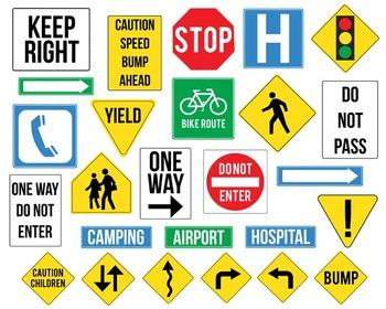 Street Signs { Digital Clip Art }