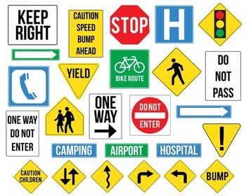 Street Signs { Digital Clip Art }