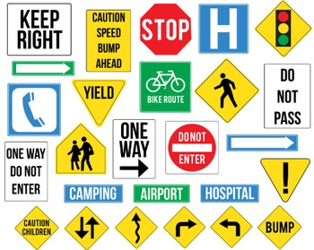 Street Sign Clipart, Street Sign, Set #201