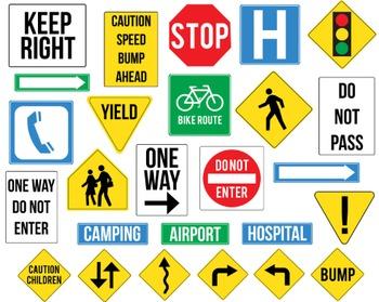 Street Sign Clipart, Street Sign, Set #201