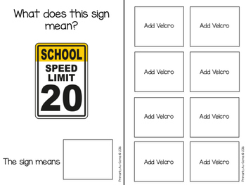 Street Signs (An Adapted Book for Identifying Signs in the Community)